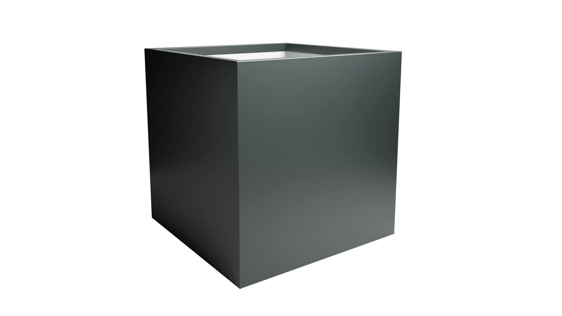 Kwadratowa donica z aluminium Alessio 6