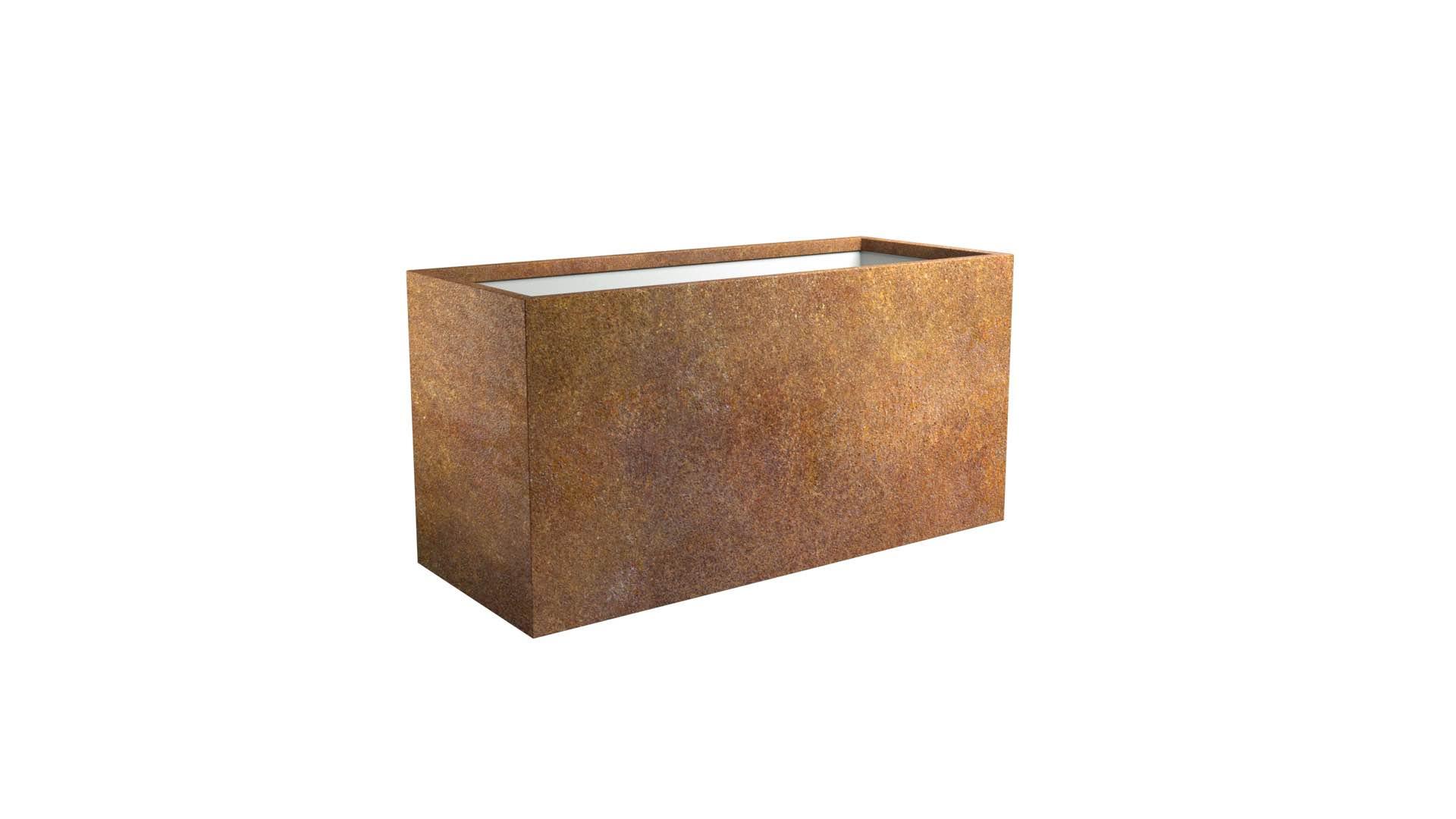 Donice prostokątne z cortenu Cubi 11