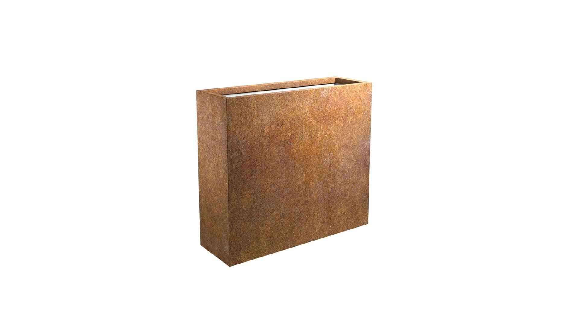 Donice z cortenu Cubi 12