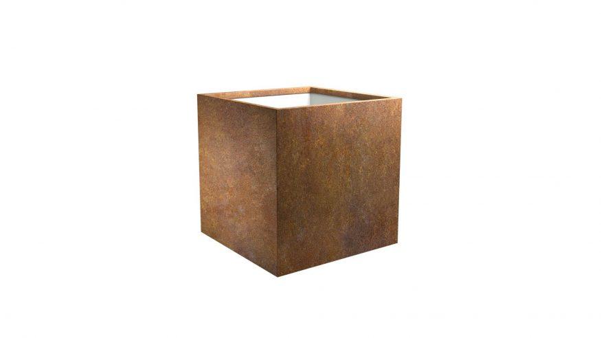 Donica z cortenu Cubi 3