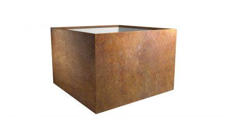 Duża donica z cortenu Cubi 7