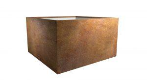 Kwadratowa donica z cortenu Cubi 8