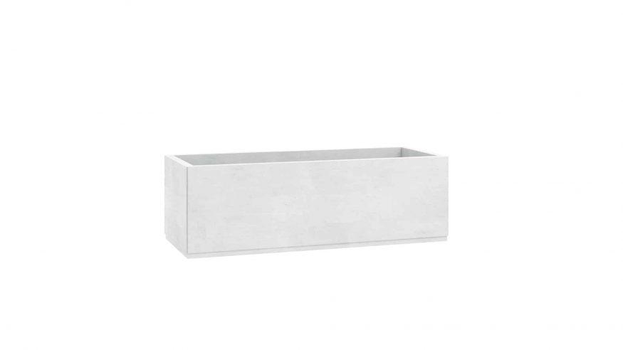 donica betonowa ogrodowa Leocadia biały