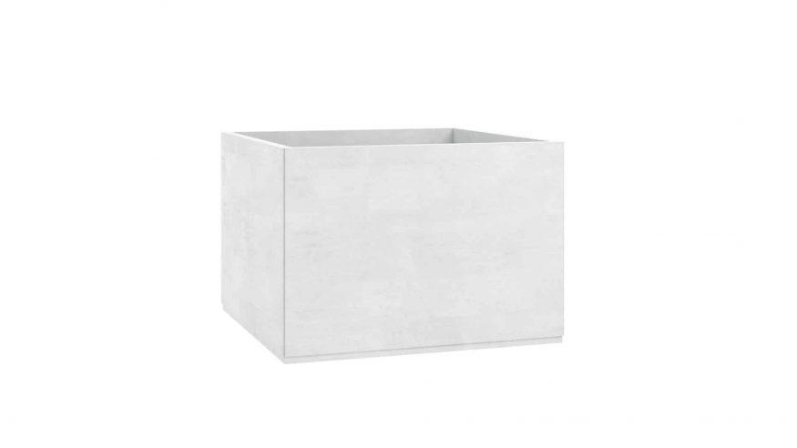 donice betonowe na taras Monica biały