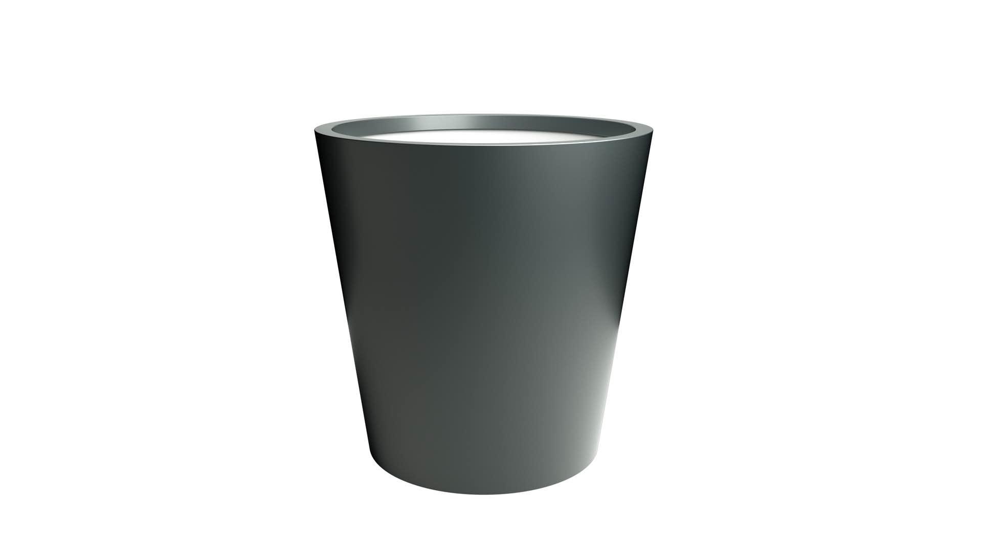 Stożkowa donica z aluminium Silvestro 3