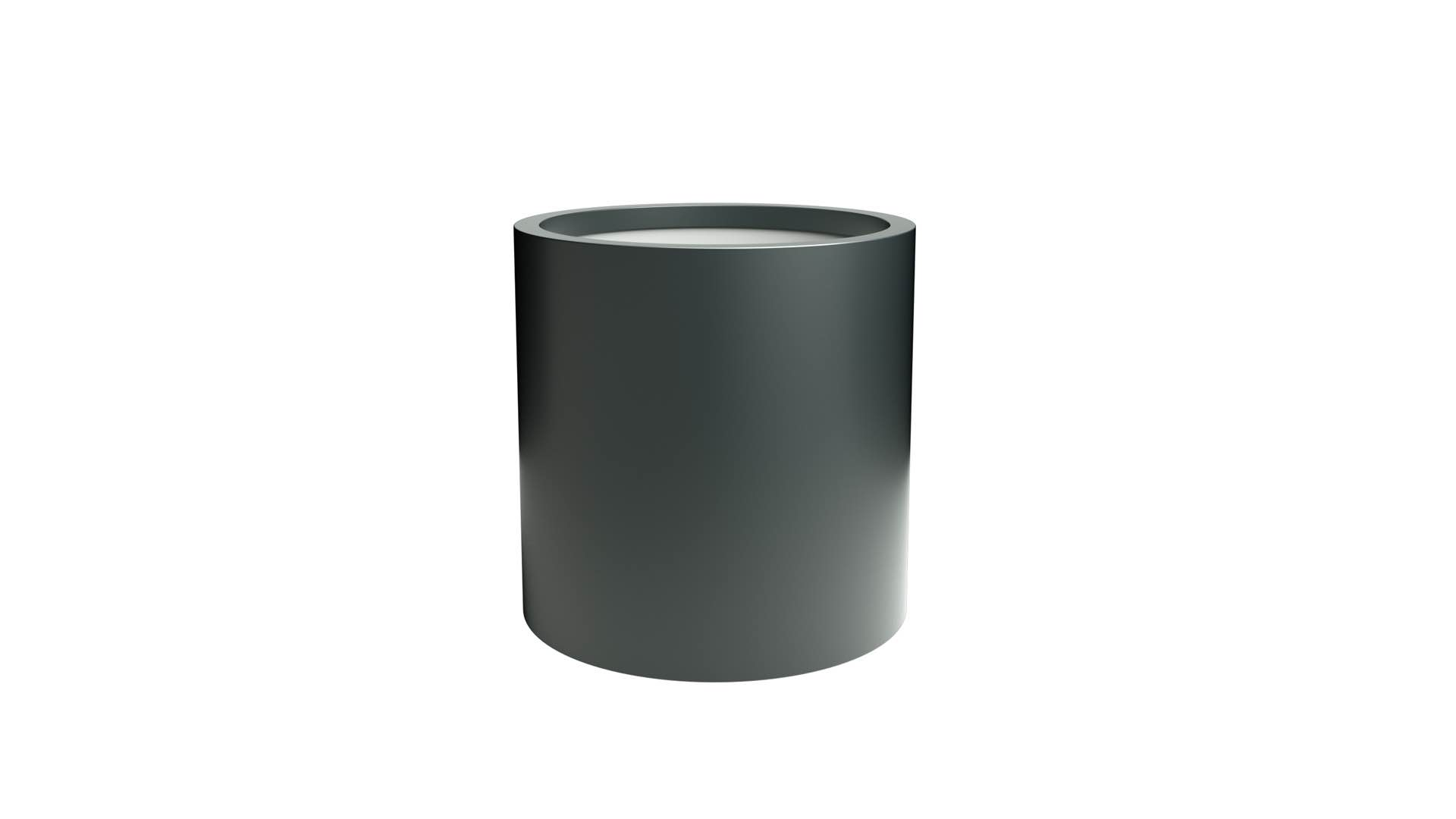 Duże donice okrągłe z aluminium Tiziano 2