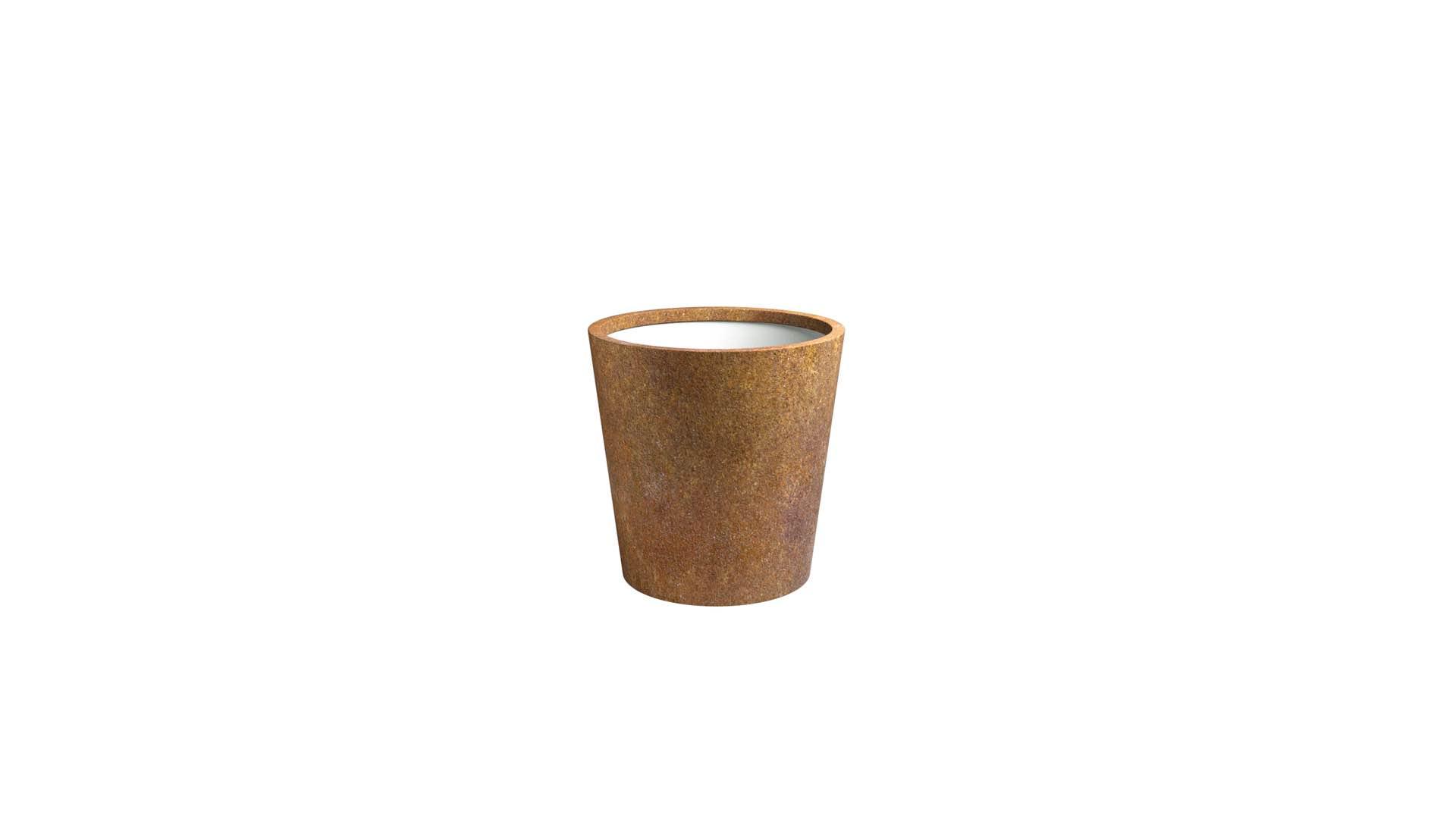 Donica stożkowa z cortenu Vaso 4