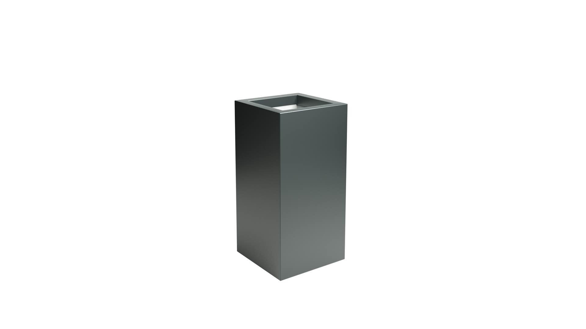 Aluminiowa smukła donica Vittorio 1