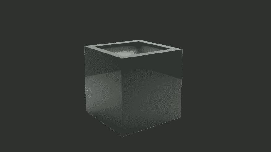 kwadratowe donice z włókna szklanego Antonio 3