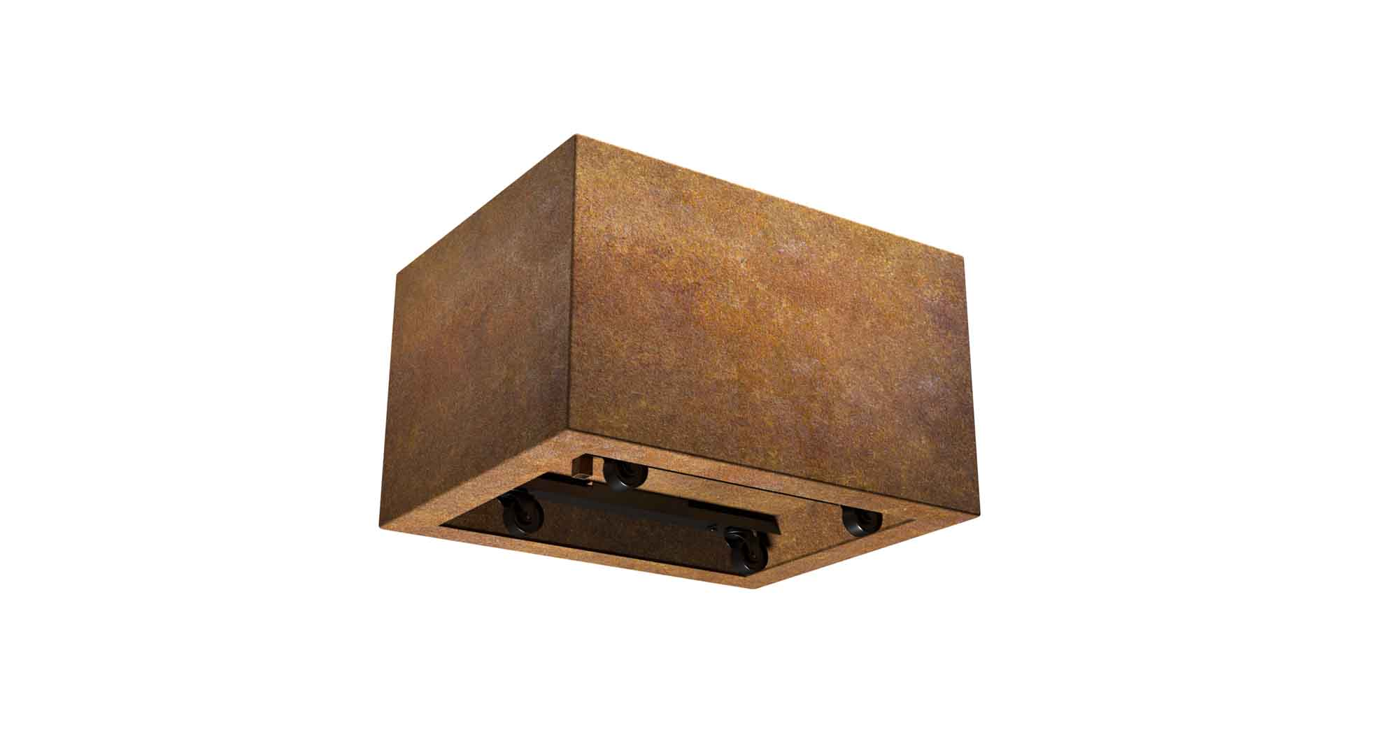 donica z cortenu na kółkach Giorgio Mobile