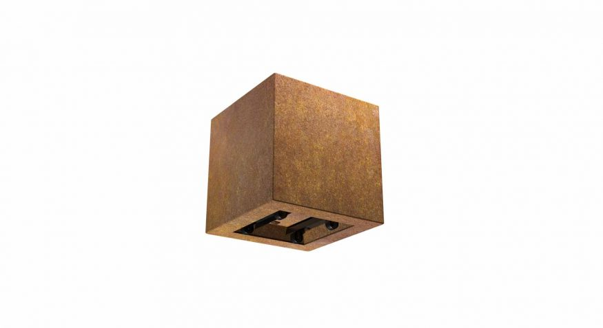 kwadratowa donica na kółkach z cortenu Marcello Mobile