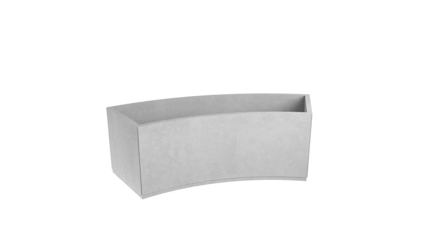 nowoczesna donica betonowa Matino szary