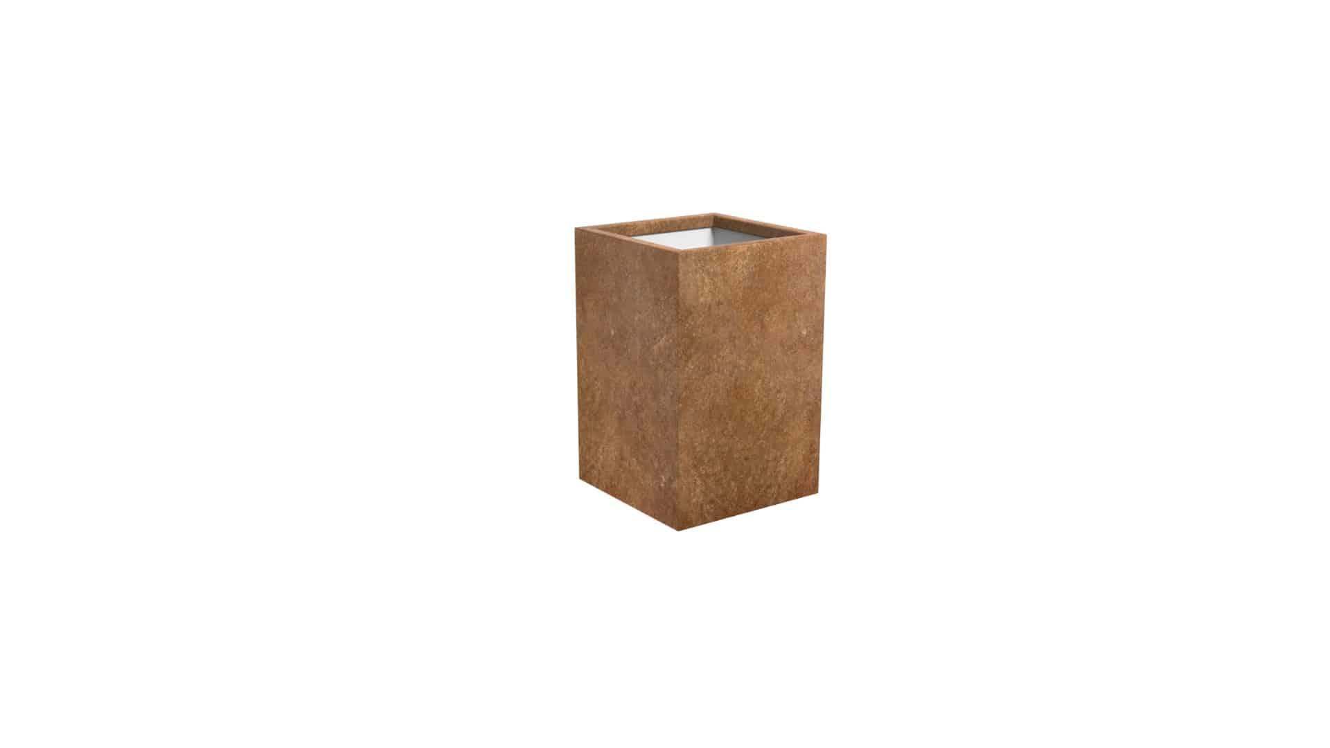 mała doniczka metalowa Cubi 13