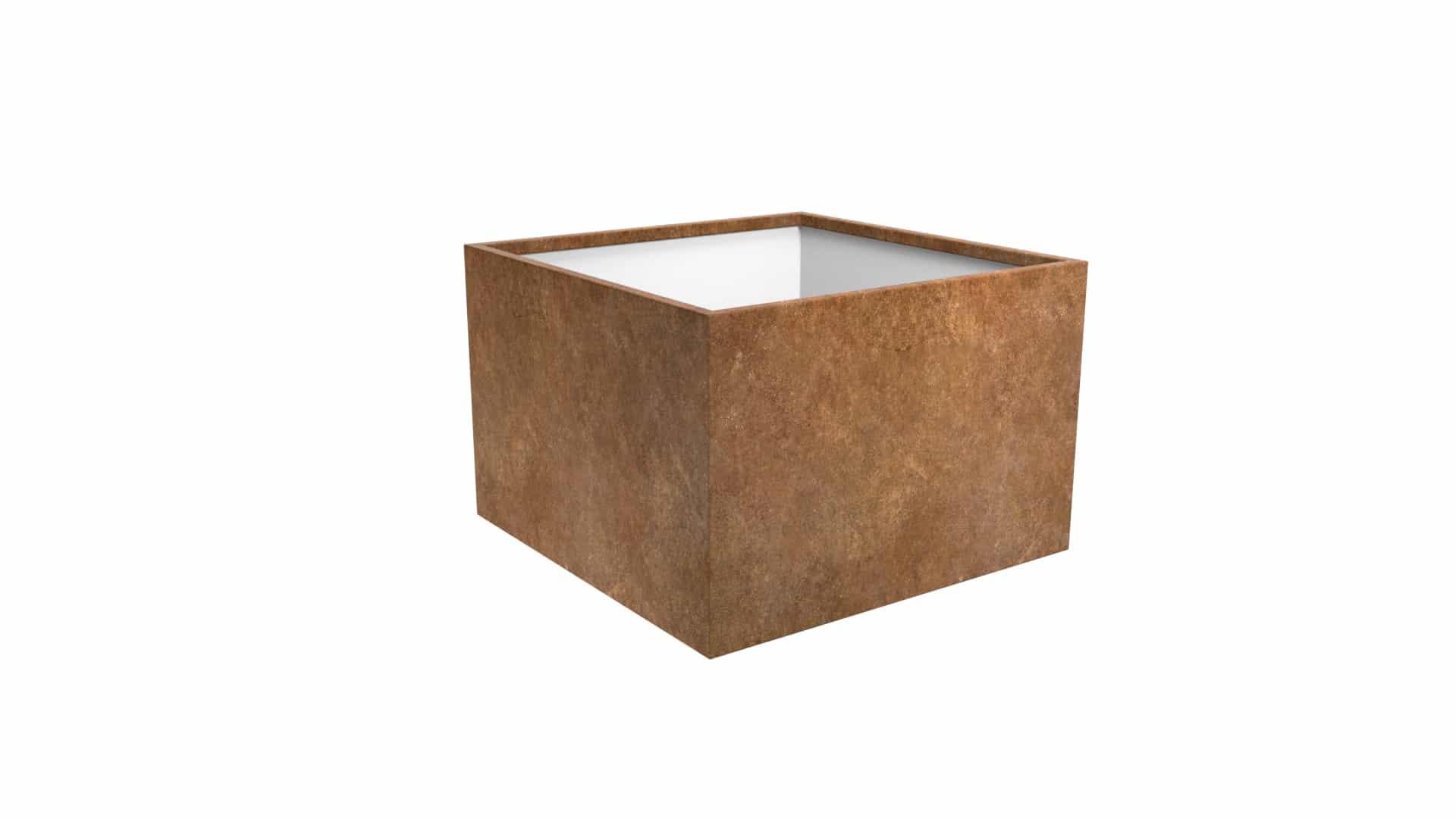 kwadratowa donica metalowa Cubi 14