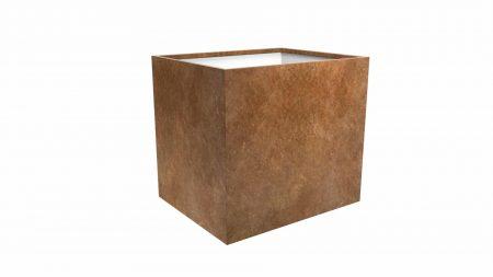 metrowa szeroka doniczka metalowa Cubi 16