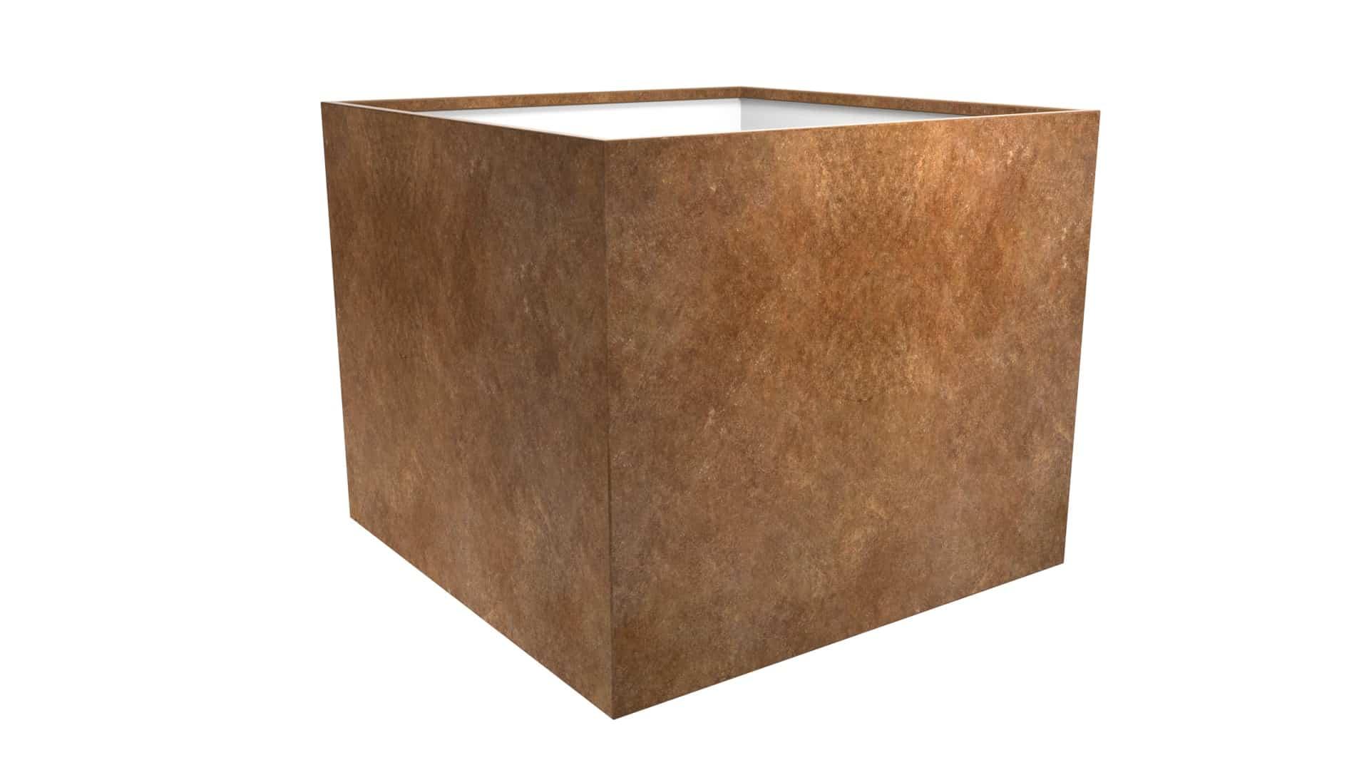 duża kwadratowa metalowa doniczka Cubi 19