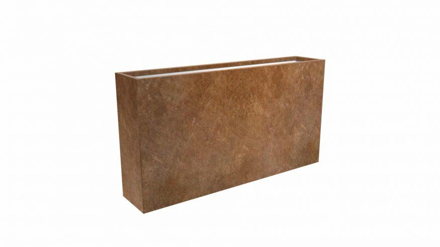 wąska doniczka metalowa Cubi 20