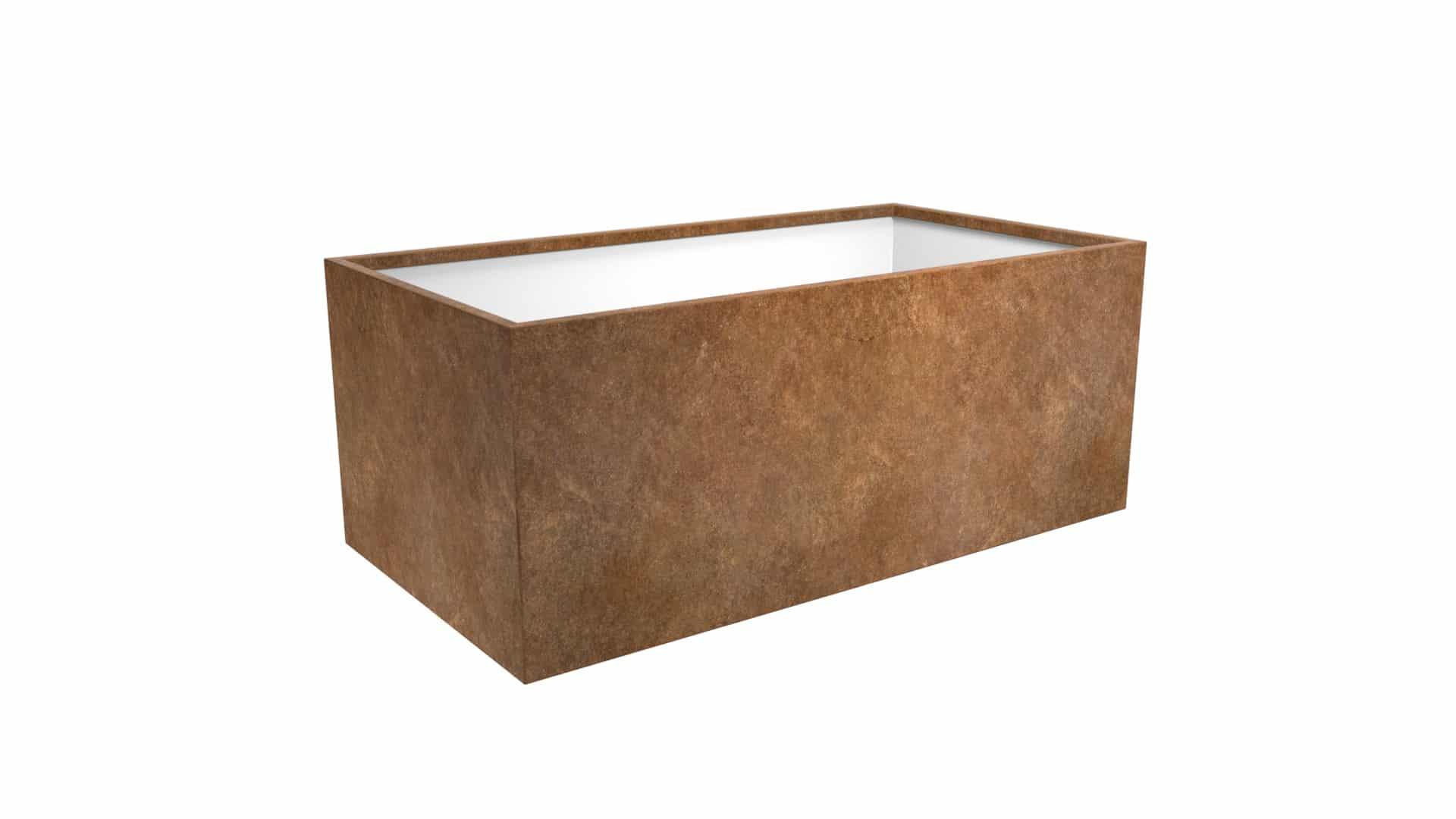 Duża donica metalowa Cubi 21