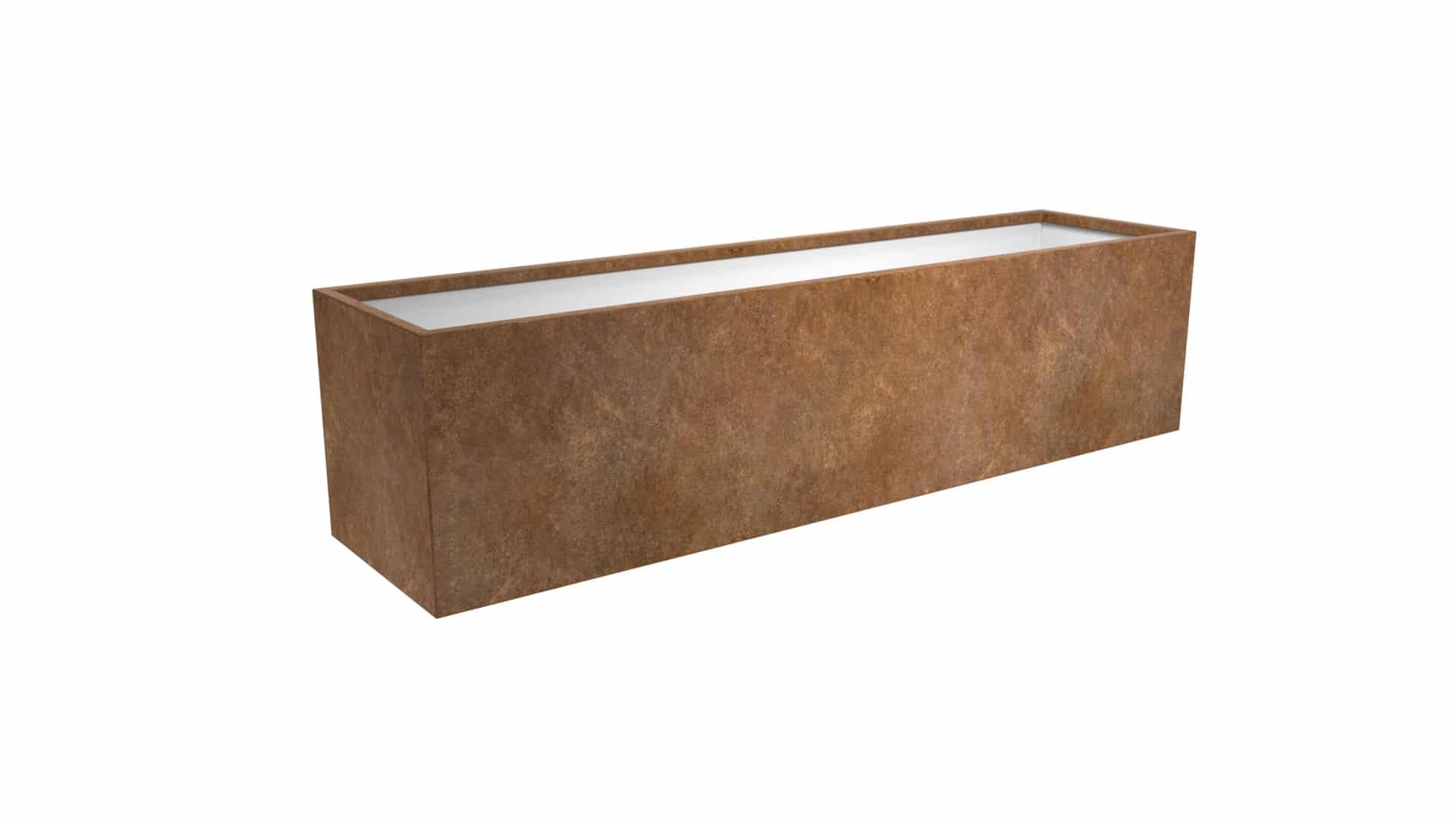 długa metalowa donica Cubi 23