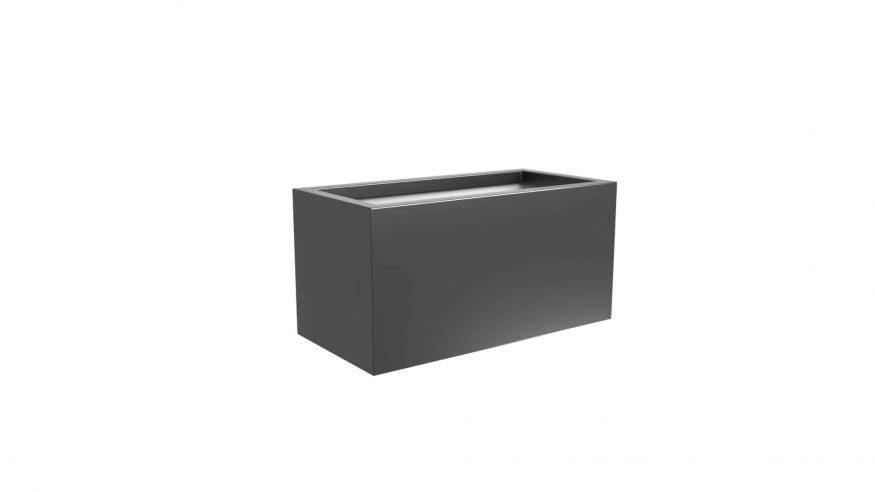 donica metalowa czarna Edoardo 8
