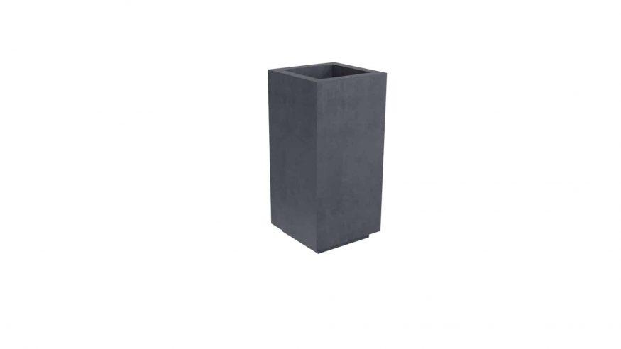 donice betonowe wysokie Davide 1 czarny